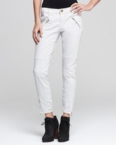 Current/Elliott Jeans - The Moto Stiletto Low Rise in Stone Grey Wash