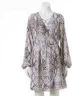 JLO by Jennifer Lopez Women's Faux-Wrap Dress