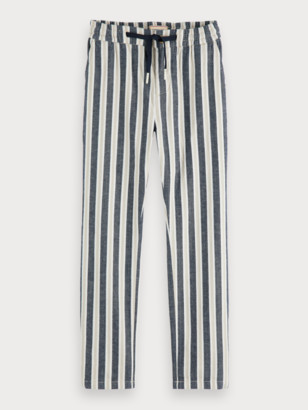 Scotch & Soda Cotton-Linen Trousers Loose tapered fit | Boys