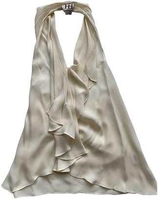Haute Hippie Ecru Silk Top for Women