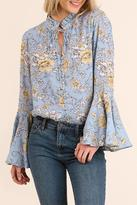 Umgee USA Floral Boho Top