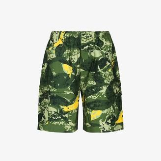 Billionaire Boys Club Camouflage Print Cotton Cargo Shorts