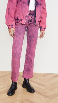 Stella McCartney Mid-Rise Crop Neon Jeans