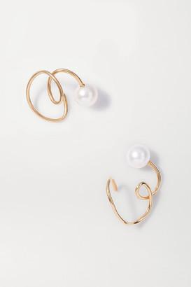 Sebastian Buoy Gold Vermeil Pearl Ear Cuffs - one size