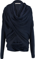 Alice + Olivia Draped wool and cashmere-blend wrap cardigan