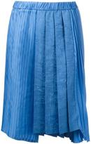 No.21 asymmetric pleated skirt - women - Viscose - 42