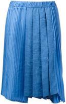 No.21 asymmetric pleated skirt