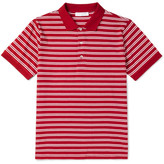 Sandro Slim-Fit Striped Cotton-Jersey Polo Shirt
