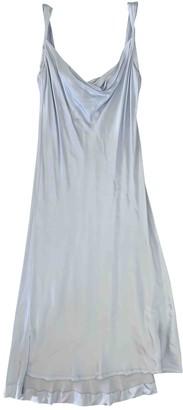 Protagonist Silver Silk Dress for Women