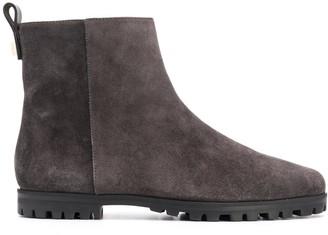 Stuart Weitzman Riley flat suede ankle boots