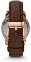 Fossil Grant Twist Brown Leather Watch
