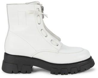 Ash Lynch Lug-Sole Leather Combat Boots