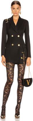 Versace Pin Blazer Jacket in Black | FWRD