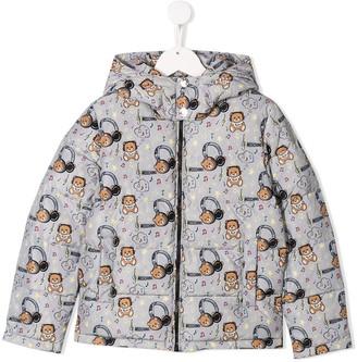MOSCHINO BAMBINO Bear Pattern Jacket