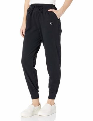 True Religion Women's Metallic Skinny Leg fit Jogger Sweat Pant