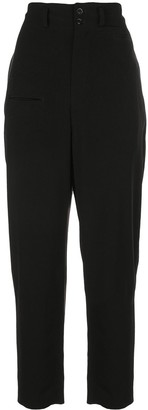 Y's High-Waisted Crepe Trousers