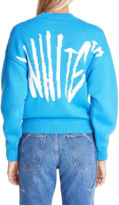 Off-White Graffiti Logo Wool Blend Sweater