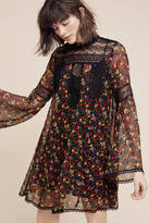 Anna Sui Beckett Silk Mini Dress