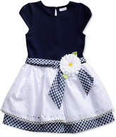 Sweet Heart Rose Gingham-Sash Drop Waist Dress, Little Girls (4-6X)