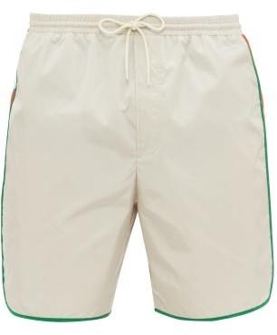 Gucci Logo-stripe Swim Shorts - Mens - White