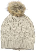 Rampage Women's Textured Beanie with Oversized Pom