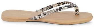 Saks Fifth Avenue Made In Italy Leather Thong Sandals