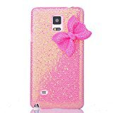 Samsung Galaxy Note 4 Case, Sandistore Bling Crystal Glitter Bowknot Case Cover for Samsung Galaxy Note 4 (Pink)