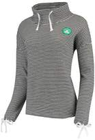 Unbranded Women's Black Boston Celtics Sunday-Funday Funnel Neck Knit Shirt