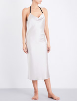 Fleur Du Mal Cowl neck silk-charmeuse slip dress