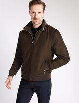 Marks and Spencer Wadded Bomber Jacket with Concealed Hood