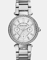 Michael Kors Mini Parker Silver-Tone Chronograph Watch