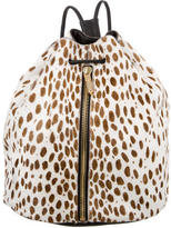 Elizabeth and James Cheetah Print Ponyhair Sling Backpack