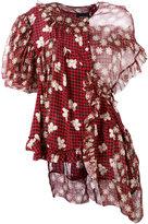 Simone Rocha asymmetric draped blouse - women - Silk - 8