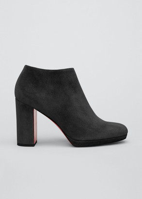 Christian Louboutin Pasteur 100mm Suede Red Sole Booties