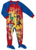 Nickelodeon Paw Patrol Team Baby Boys Toddler footed Blanket Sleeper Pajama (t)