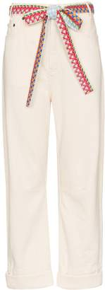 Mira Mikati woven belt wide-leg jeans