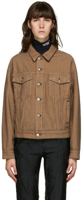 MM6 MAISON MARGIELA Brown Denim Jacket
