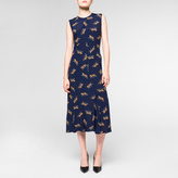 Paul Smith Women's Navy Dress With 'Leopard' Print