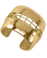 Josie Natori Gold Brass Cage Bracelet