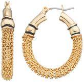 Dana Buchman Chain Oval Hoop Earrings