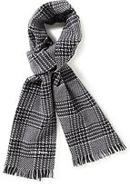 Hickey Freeman Tonal Plaid Wool Scarf