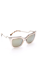 Fendi Iridia Corner Accent Sunglasses