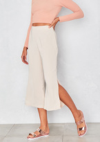 Missy Empire Cici Cream Side Split Culottes