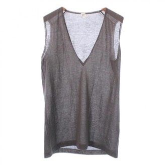 Hermes Brown Cashmere Top for Women