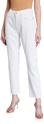 7 For All Mankind Josefina Low-Rise Straight-Leg Jeans