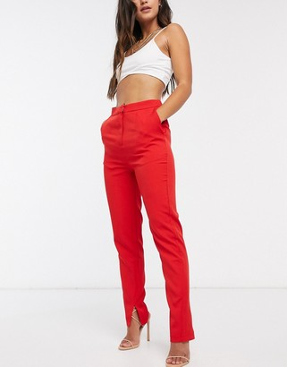 Club L London Club L tailored pant in red