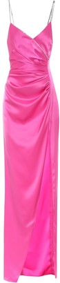 David Koma Embellished satin maxi dress