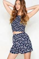 Nasty Gal Full Bloom Crop Top and Shorts Set