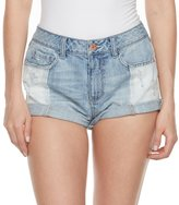 Mudd Juniors' Ripped Two Tone Jean Shortie Shorts