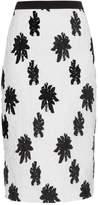 Balenciaga Floral silk-blend cloqué skirt